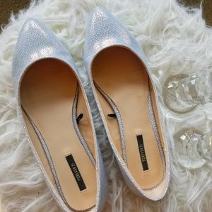 Forever 21 Pointed Toe Iridescent Shoes Flats